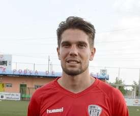 Gil Muntadas, futbolista de la Pobla de Mafumet, en la foto oficial del equipo. CFPoblaDeMafumet