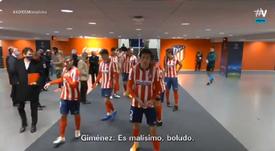 El Atlético empató ante el Lokomotiv. Captura/MovistarFutbol