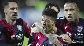 A Gio Simeone le gustaría ir al Atlético. CagliariCalcio