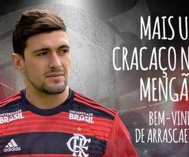 De Arrascaeta se ha convertido en el fichaje más caro de Brasil. Twitter/Flamengo