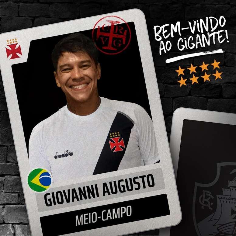 Giovanni Augusto jugará en calidad de cedido hasta final de temporada. Twitter/VascodaGama