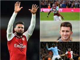 Giroud, Laporte, Ayew and Mangala. BeSoccer