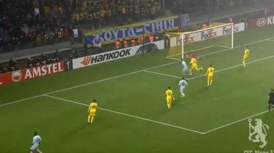 Giroud a ouvert le score. Capture/CFCBlues