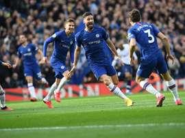Giroud coleciona gols no Chelsea desde que deixou o grande rival. Twitter/ChelseaFC