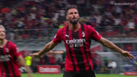 Festival del Milan al descanso: de la fortuna de Brahim al doblete de Giroud