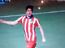 Debut and goal from Giuliano Simeone for Atlético B. Screenshot/IB3