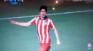 Debut and goal from Giuliano Simeone for Atlético B. Screenshot/IB3