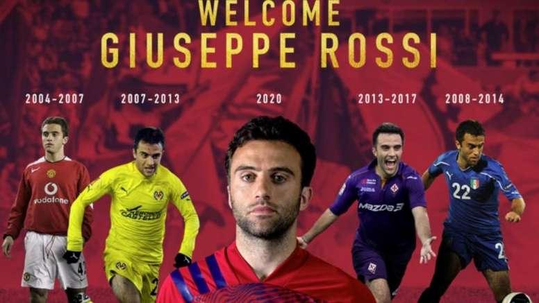 Giuseppe Rossi fue anunciado como nuevo jugador de Real Salt Lake. RealSaltLake