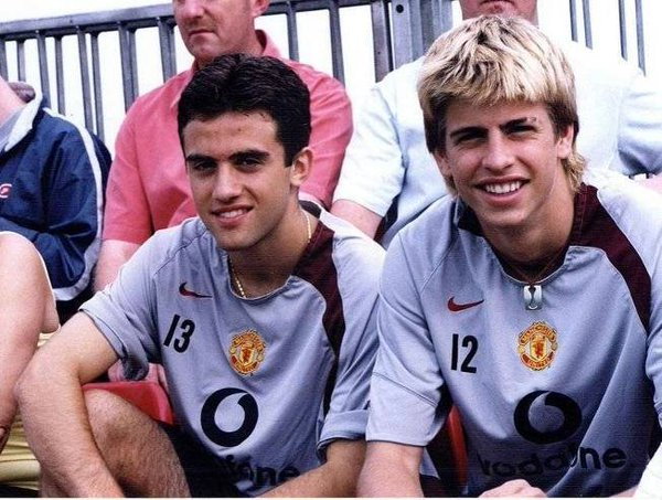 Rossi during his Manchester United youth team days, alongisde Gerard Pique. Twitter