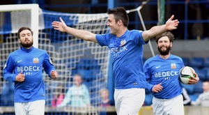 Glenavon striker Eoin Bradley (M) is suspended for six matches. Twitter