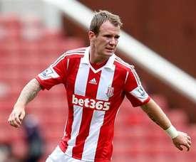 El Stoke City espera una oferta mayor del Aston Villa por Glenn Whelan. StokeCityFC