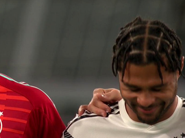 Gnabry started laughing during the moment's reflexion in Dortmund. Captura/Cuatro