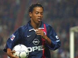 Ronaldinho a été l'un des meilleurs joueurs étant passé par le PSG. AFP