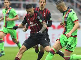 Lapadula struck late for AC Milan. Goal