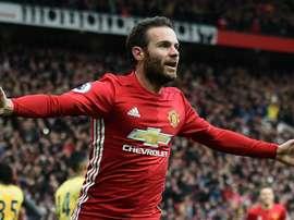 Le joueur du Manchester United, Juan Mata. AFP