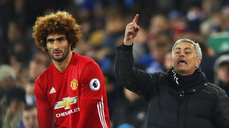 Marouane Fellaini has been linked with a move to the Serie A. Goal