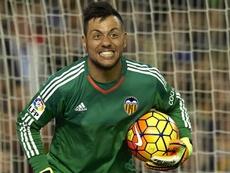 Le gardien de Valence, le Brésilien, Diego Alves, lors d'un match de Liga. AFP