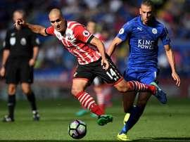 Romeu, dans un match de Premier League entre Leicester et Southampton. AFP