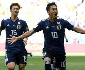 O Japão controlou o jogo e aproveitou a vantagem numérica para vencer a Colômbia. Goal