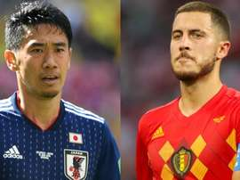 Hazard e Kagawa querem seguir brilhando na Copa.Goal