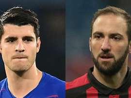 Chelsea e Milan estão perto de anunciar troca de Morata por Higuain, diz TV italiana