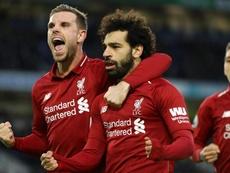 Salah a marqué. Goal
