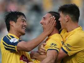 Fortunate Gallifuoco goal lifts A-League strugglers. GOAL