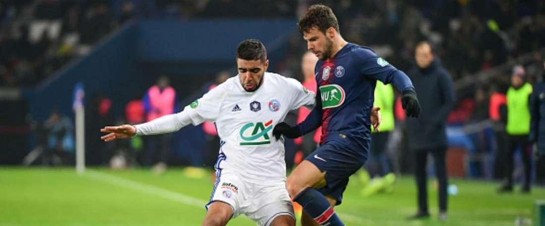 Aaneba joueur de Strasbourg. Goal