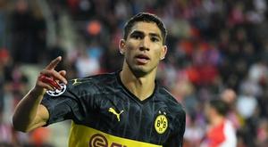 Achraf Hakimi scored Dortmund's two goals. GOAL