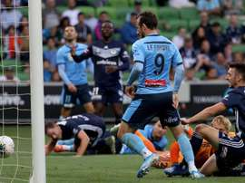 Adam le Fondre scored in Sydney's FC comfortable win over Melbourne Victory. GOAL