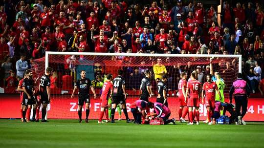 Penalty controversy marred this A-League game. GOAL