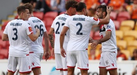 Adelaide won an eight goal thriller at the Suncorp Stadium. GOAL