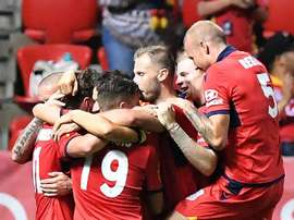 Adelaide United netted five in the win. GOAL