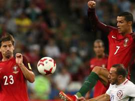 Ronaldo put in a fantastic performance against Spain. GOAL