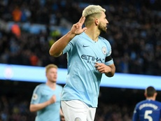 Aguero netted a hat-trick to push his side to an historic victory. GOAL