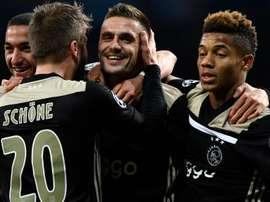 L'Ajax ai quarti di finale. Goal