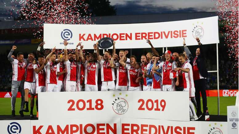 Ajax were top of the Eredivisie when it was suspended. GOAL