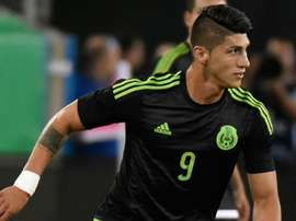 Alan Pulido pictured during the match. Goal