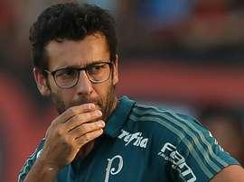 O técnico interino do Palmeiras: Alberto Valentim. Goal