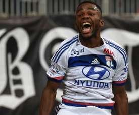 Aldo Kalulu dans un match de Ligue 1 entre l'Olympique Lyonnais et Bastia. AFP