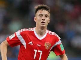 Golovin starred for Russia. GOAL