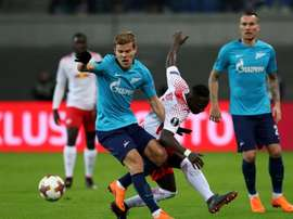 Kokorin picked up an injury against Leipzig. GOAL