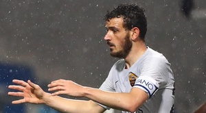 Florenzi interviene in conferenza stampa. AFP