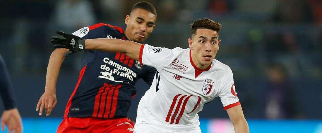Alexander Djiku Ezequiel Ponce Caen Lille Ligue 1 13012018