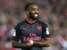 Alexandre Lacazette sous le maillot d'Arsenal. Goal