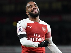 Alexandre Lacazette saw red in the second half of Arsenal's 1-0 defeat to BATE. GOAL