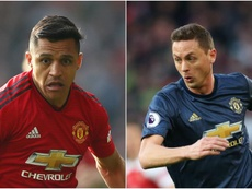 Alexis Sanchez and Nemanja Matic made the travels to Barcelona. GOAL