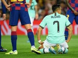L'attaccante dell'Inter e del Cile Alexis Sanchez. Goal