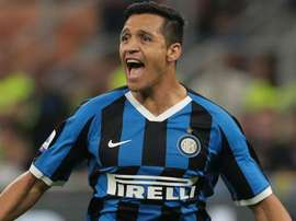 L'attaccante cileno dell'Inter Sanchez. Goal