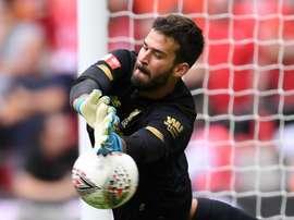 Alisson making 'steady progress', says Liverpool coach